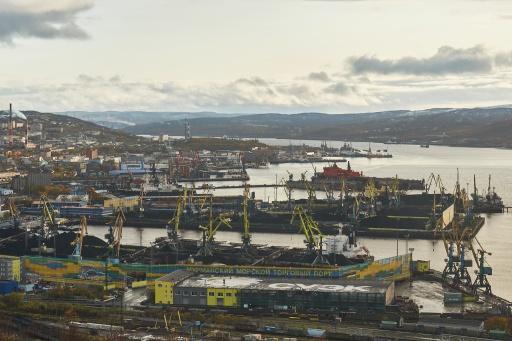 Blick über den Hafen von Murmansk