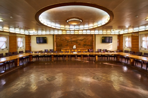 Der Konferenzsaal auf der Lenin