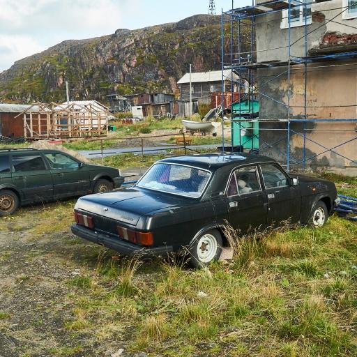 Parkplatz in Teriberka