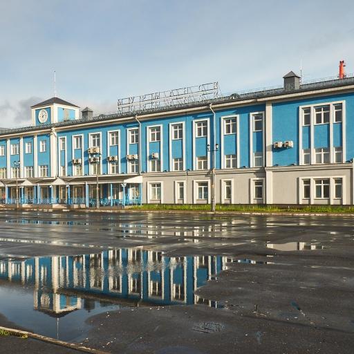 Hafengebäude Murmansk