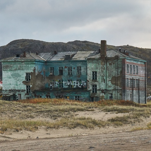 Lost Place alte Schule in Teriberka