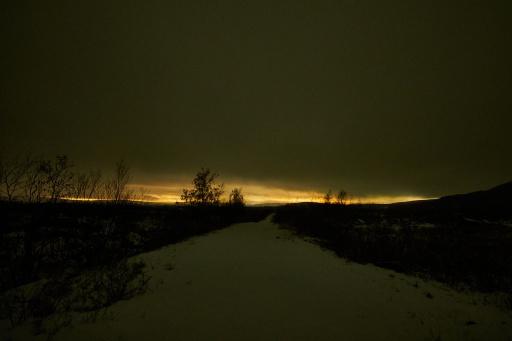 Nachts etwas außerhalb von Murmansk