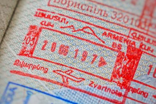 Armenischer Stempel im Pass