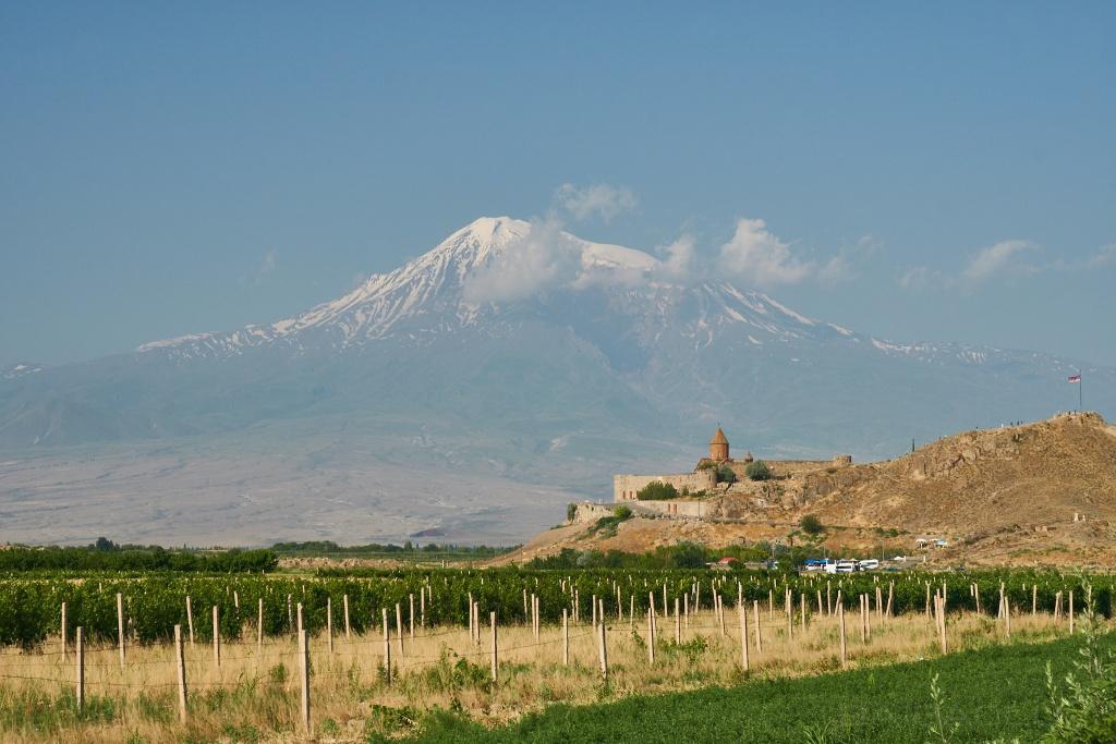 Kloster Chor Virap mit Berg Ararat