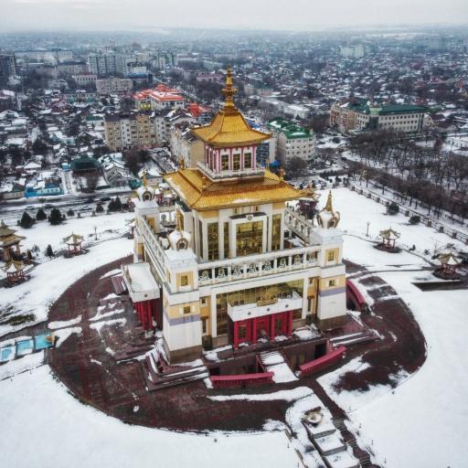 Der goldene Tempel von oben