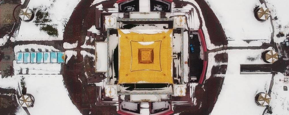 Goldener Tempel Elista von oben