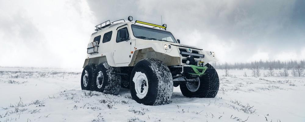 Trekol in der russischen Arktis