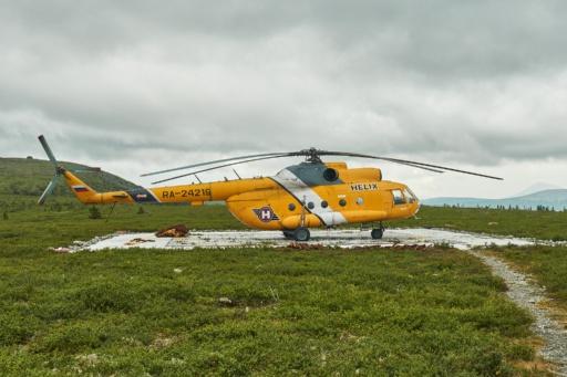Helikopter gelandet